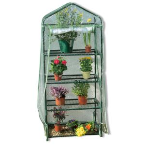Image de Intermas Gardening 160030 - Serre de balcon Balcony 3 - 3 étages 50 x 70 x 125 cm