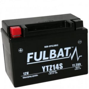 Fulbat Batterie moto YTZ14S étanche AGM 12V / 11.2Ah