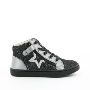 Kickers Lilustar, Sneakers Haute Fille, Noir, 20
