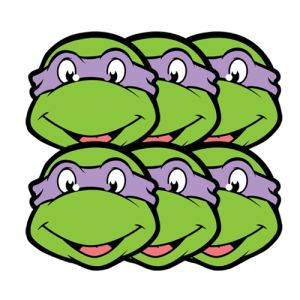 6 masques Donatello Tortue Ninja