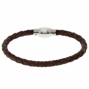 Rochet B342073 - Bracelet en acier et cuir pour homme