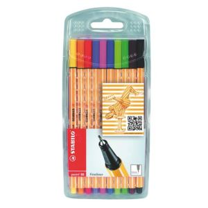 Stabilo Etui de 10 stylos feutres Point 88 pointe fine