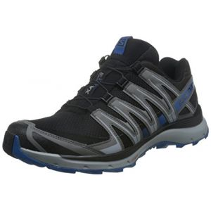Salomon Homme XA Lite Chaussures de Trail Running, Noir (Black/Quiet Shade/Imperial Blue), Taille: 45 2/3