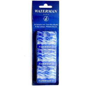 Waterman 36 cartouches mini encre bleue