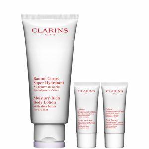 Clarins Programme Hydratation parfaite - Coffret baume corps, crème jeunesse des mains et crème jeunesse des pieds