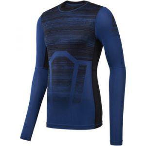 Reebok T-shirt Sport Maillot de compression manches longues Activchill AOP bleu - Taille EU S