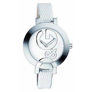 Dolce & Gabbana Hoop-LA - Montre pour femme avec bracelet en cuir