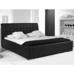 lit capitonne noir comparer 355 offres. Black Bedroom Furniture Sets. Home Design Ideas