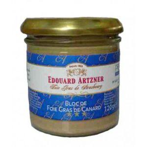 Edouard Artzner Bloc de foie gras de canard d'Alsace, Bocal 120 gr