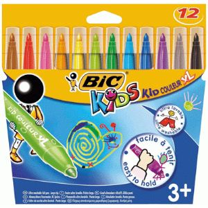 Bic 828966 - 12 feutres Kids pointe extra large