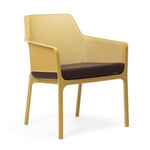 Nardi Coussin d'assise pour fauteuil de jardin NET RELAX 57x52 par - Marron Foncé - Extérieur - Fermeture Zip
