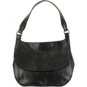 Dudu Sac pour femme porté Epaule Hivernal en cuir véritable sac Hobo souple avec Clous et fermeture à bouton magnétique Noir
