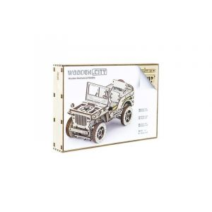 Wooden.City WOODEN CITY - Modèle de voiture 4x4 - Bois - 570 pièces