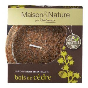 Devineau Bois de Cèdre - Bougie déco évasée parfumée aux huiles essentielles