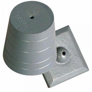 Taliaplast 420402 - Plomb de maçon en fonte 600 g avec plaque ajustée sans cordon