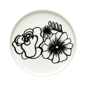 Marimekko Assiette Eläköön Elämä 20cm Blanc-noir