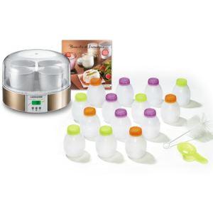 Lagrange 439609 - Yaourtière 7 pots avec kit de yaourt à boire