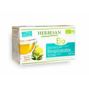 Herbesan Infusion thym, citron - respiratoire bio - Boîte de 20 sachets