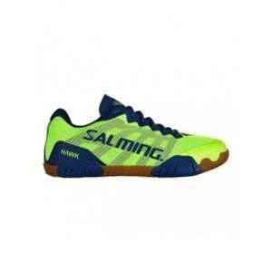 Salming Hawk Indoor Shoes - Men - Neon Green / Limoges Blue - 44 2/3