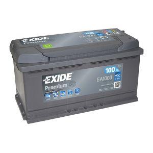 Exide Premium Superior EA1000 Batterie 100 Ah Courant de démarrage à froid 900 A
