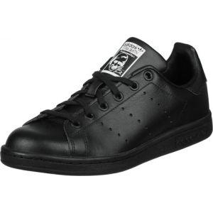 Adidas Stan Smith J, Chaussures de Gymnastique Mixte Adulte, Noir (Black/Footwear White), 35.5 EU