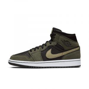 Nike Chaussure Air Jordan 1 Mid pour Femme - Noir - Taille 42.5 - Female