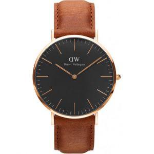 Daniel Wellington DW00100126 - Montre pour homme avec bracelet en cuir