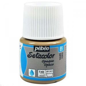Pebeo Peinture textile opaque Setacolor 45ml 89 - Taupe