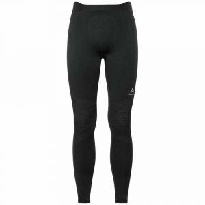 Odlo Suw Performance Warm Sous-vêtement Homme, black concrete grey M Sous-pantalons longs