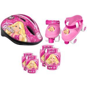 Stamp CB901341 -Set casque + genouillères + coudières + patins Barbie