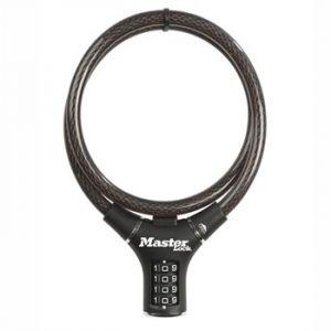 Master Lock Câble antivol à combinaison noir 90 cm pour vélo