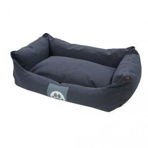 Overseas Lit pour chiens 60 x 40 x18 cm Toile Bleu Marine