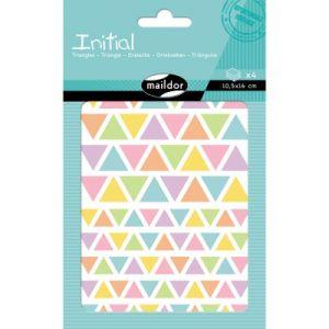 Maildor Gommettes colorées triangles