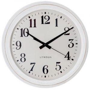 """Horloge Murale Vintage """"Brossé"""" 35cm Blanc Prix"""