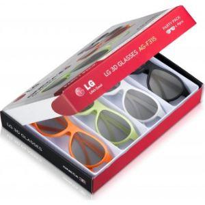 LG AG-F315 - 4 paires de Lunettes Cinéma 3D Party Pack
