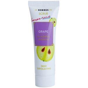 Korres Mask&Scrub Grape gommage purifiant en profondeur