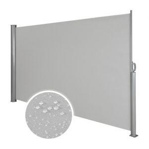 Auvent store latéral brise-vue abri soleil aluminium rétractable 200 x 300 cm gris