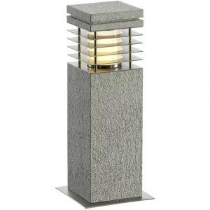 SLV ARROCK GRANITE 40 borne, granit, poivre & sel, E27, max. 15W DECLIC