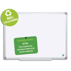 Image de Bisilque CR0820790 - Tableau blanc tôle recyclable en aluminium (90 x 120 cm)