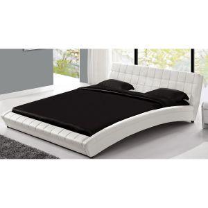 Concept-Usine Lit Chelsea - Cadre de lit en simili capitonné Blanc - 140x190cm