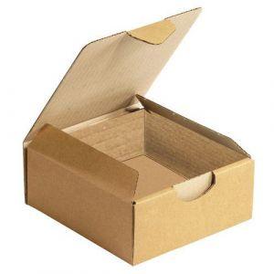 Boîte postale brune d'expédition en carton - 20 x 14 x 7,5 cm