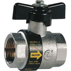 sferaco 323004 - Robinet à tournant sphérique clapet antipollution intégré BALLSTOP Laiton FF DN : 1-2