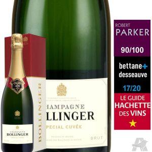 Bollinger Champagne AOP, brut - La bouteille de 75cl avec étui