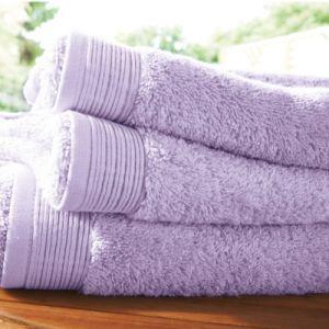 Blanc des vosges Eponge unie Gant Coton Lilas 16x22 cm