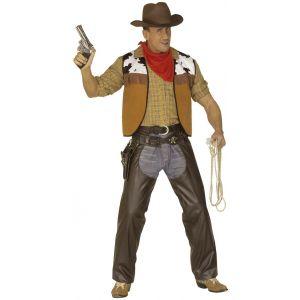 Déguisement cowboy sur-pantalon imitation cuir (taille M)