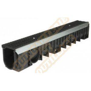 Nicoll Caniveau 1m grille fonte C250 profondeur 2 largeur 100 DR102CF