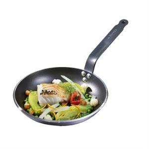 De Buyer 8480.32 - Poêle ronde anti-adhésive Choc Resto Induction 32 cm