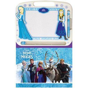 Ardoise et livre La Reine des Neiges
