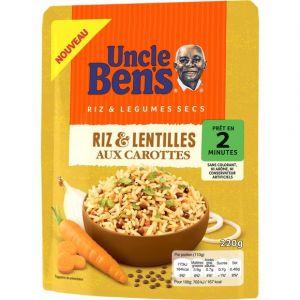 Uncle Ben's Riz et lentilles aux carottes 2mn 220g