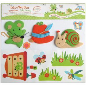 Baby to Love Stickers muraux Une souris verte